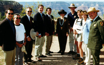First Lady Hillary Clinton officially dedicated the Grand Canyon Greenway in 1991